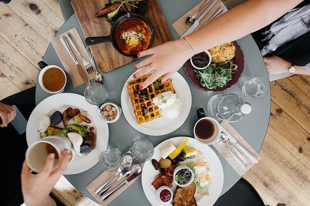 朝食、健康的食事